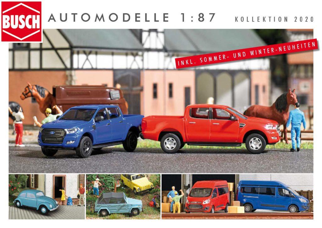 BUSCH Automodelle 1:87 - Kollektion 2020